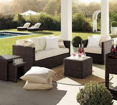 Patio Chairs With Ottomans by Dining Room Appealing Wicker Sofa With Gabberts Furniture And