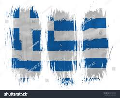 Greek Flag Background Greece Greek Flag Painted 3 Vertical Stock Photo 131330549