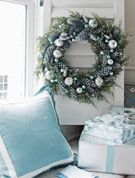 blue christmas wreath garland and crowns pinterest blue
