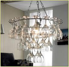 Wine Glass Chandelier Diy Impressive Diy Glass Chandelier Wine Glass Chandelier Diy Home