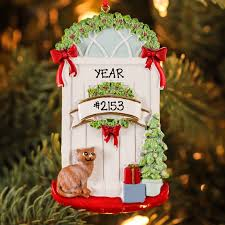 kurt adler resin cat christmas door personalized christmas tree