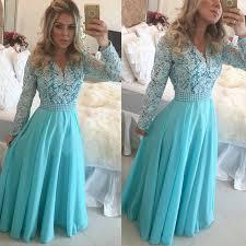 aliexpress com buy 2015 winter long sleeve v neck pearls blue