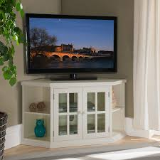 white 46 inch corner tv stand with bookcases corner tv stands