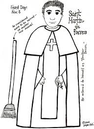 blessed mother coloring pages st martin de porres coloring sheet year 3 saints pinterest