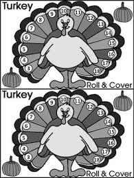 math activities thanksgiving turkey roll cover math activity