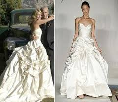 Celebrity Wedding Dresses Celebrity Wedding Dress Style Preowned Wedding Dresses
