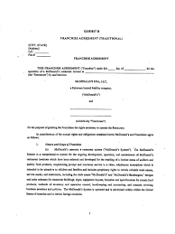 Sample Contract Letter Mcdonalds Franchise Agreement Franchising Mc Donald U0027s
