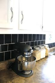 Black Kitchen Cabinets White Subway Tile Paint Over Tile Backsplash Granite Can I Paint Over Laminate