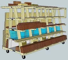 Mobile Lumber Storage Rack Plans by 880 Best Diy Workshop Storage Tools U0026 Wood Images On Pinterest