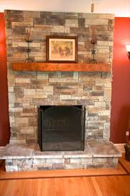 does my stone fireplace have to extend to the ceiling north