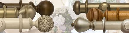 Chunky Wooden Curtain Poles Rolls Modern Country 45mm 55mm Wood Curtain Poles