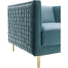 Aqua Accent Chair by Chair Dusty Blue Velvet Accent Chair By Coaster 902711 Azwaak T