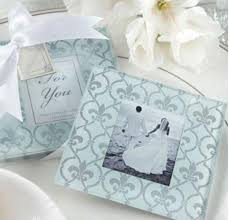 picture frame wedding favors 60sets 120pcs lot classic glass coasters photo frame wedding