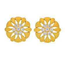gold ear rings buy 22kt 916 enhancing gold earrings jpearls
