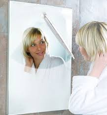 Why Do Bathroom Mirrors Fog Up by Amazon Com Thumbs Up Bathroom Mirror Wiper White Home U0026 Kitchen