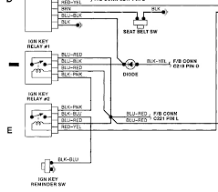 where is the diode that controls the ignition key relay in a 1991