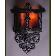Torch Wall Sconce Lf100 Small Gothic Wall Sconce Vintage Iron Mica Lamp Company