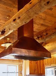 copper kitchen hoods milo u0027s art metal