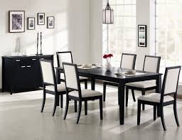 Black Wood Dining Table Dining Table Elmdon Black Dining Table 6 Chairs Small Black