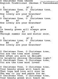 oh tree song lyrics for o christmasree
