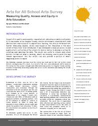 arts education funder research reports and evaluations related
