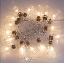 battery powered outdoor led string lights novelty glass jar led string lights with 20 led lights battery