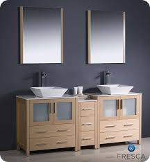Bathroom Vanity With Side Cabinet Equipment Fresca Torino 72 Light Oak Modern Sink