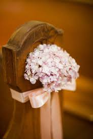hydrangea as church wedding aisle decor photo by borrowed blue