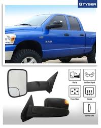 towing mirrors for dodge ram 3500 tyger upgrade performance style play towing mirrors 2pcs pair
