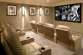 diy home theater decor home theater transitional with movie