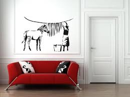 banksy wall stickers vinyl banksy wall decal art design ideas image of banksy wall decal zebra