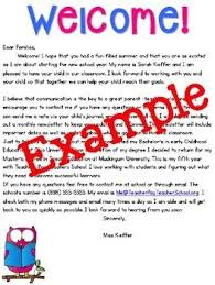 best 25 welcome letter ideas on pinterest classroom