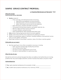 productivity report template 7 contract proposal template procedure template sample sample service contract proposal proactive maintenance of server s