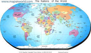 world map political with country names map countries major tourist attractions maps