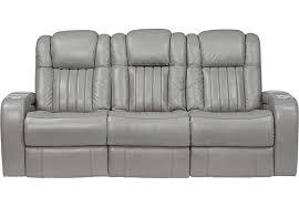 Beige Reclining Sofa Servillo Platinum Leather Power Plus Reclining Sofa Reclining