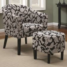 Gray And White Accent Chair A Plus Home Furnishings Accent Seating Barrel Back Accent Chair