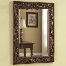 Home Decorating Mirrors by Home Decor Wall Mirror Ideas With White Wall Decor Also Wooden