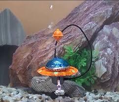 bubbler air aquarium ornament decoration ufo plastic all