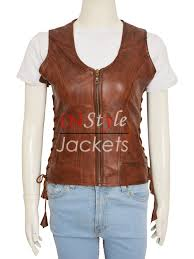 leather vest danai gurira the walking dead drama leather vest instylejackets