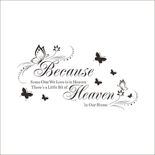 aliexpress com buy heaven in our heaven quotes vinyl butterfly