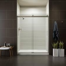 The Shower Door Kohler Levity 59 In X 74 In Semi Frameless Sliding Shower Door