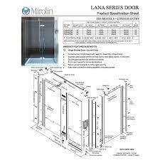 Mirolin Shower Door Mirolin Hds60psl Hinge Shower Door Plain Silver Builder Supply