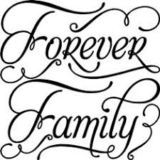 forever family vinyl lettering home decor decal