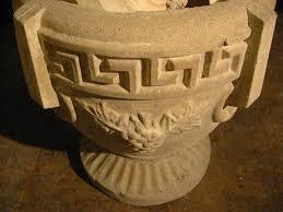 Greek Pedestal Cement Urn Jardinieres Grape Design Pedestal Planters U2013 Designer