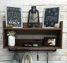 amazon com coat rack with shelf coat hooks with shelf hat and
