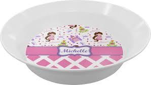 personalized bowl princess diamond print melamine bowl personalized potty
