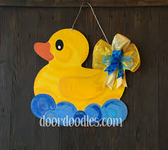 rubber duck baby shower decorations rubber ducky in bath door hanger decoration birth