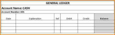 6 general ledger template for small business ledger review