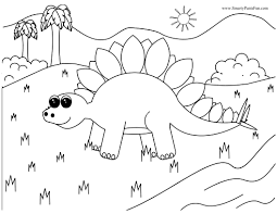 simple dinosaur coloring getcoloringpages