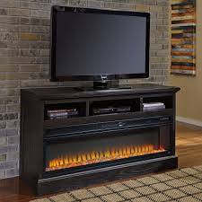Michael Amini Fireplace Ashley Furniture Sharlowe Lg Tv Stand With Fireplace In Charcoal